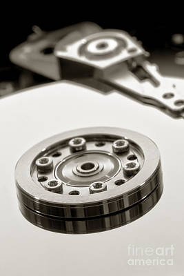 Disc Photograph - Hard Drive by Olivier Le Queinec