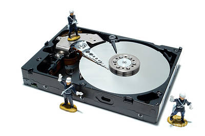 Disc Photograph - Hard Drive Security by Olivier Le Queinec