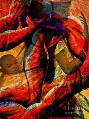 Faniart Africa America Mixed Media - Hard Life by Fania Simon