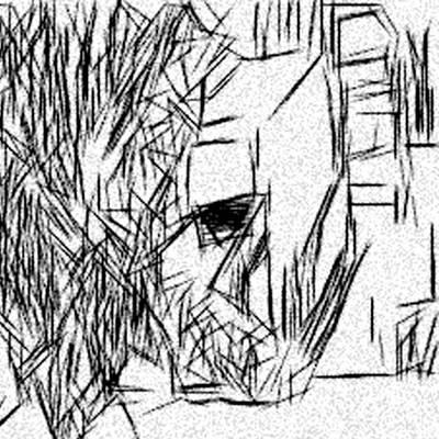 Hard Line Sketch Art Print by Jonathan Harnisch