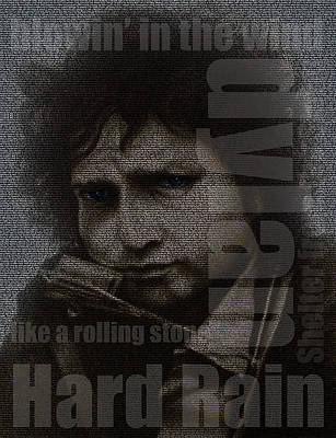 Bob Dylan Mixed Media - Hard Rain by David Oakley
