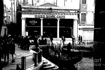 Photograph - Hard Rock Cafe By Gondola by Jacqueline M Lewis