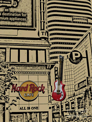Photograph - Hard Rock Cafe In Toronto by Nina Silver