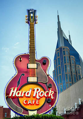 Photograph - Hard Rock Cafe Nashville by Sophie Doell