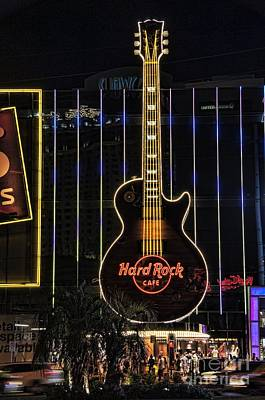 Hard Rock Cafe Art Print by Peter Dang
