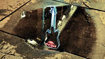 Hard Rock Cafe Reflection Art Print by Ronda Broatch