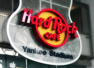 Joe Dimaggio Vintage Photograph - Hard Rock Cafe Sign At New Yankee Stadium by Aurelio Zucco