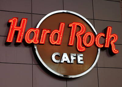 Hard Rock Cafe Sign Art Print