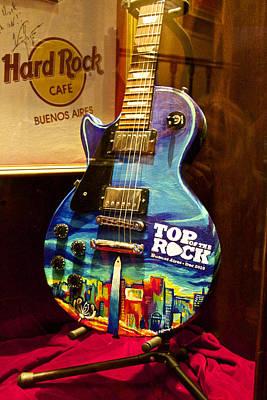 Hard Rock Electric Guitar Art Print
