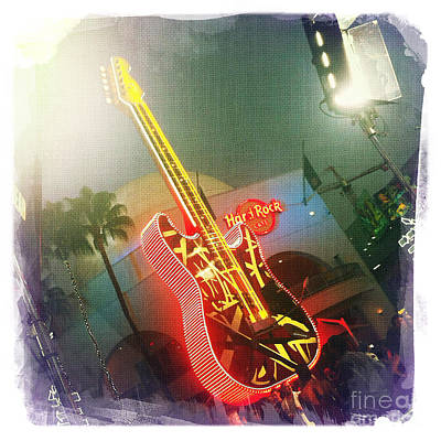 Hard Rock Guitar 2 Art Print