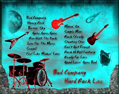 Digital Art - Hard Rock Live by Michael Damiani