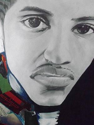 Hip Drawing - Hard Thinker by Joshua Robinson