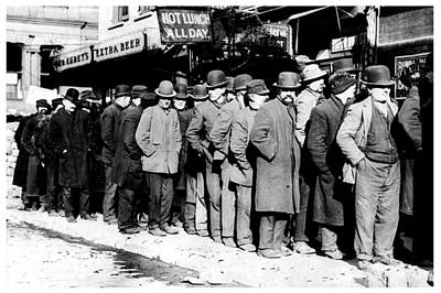 Bread Line Photograph - Hard Times by Benjamin Yeager