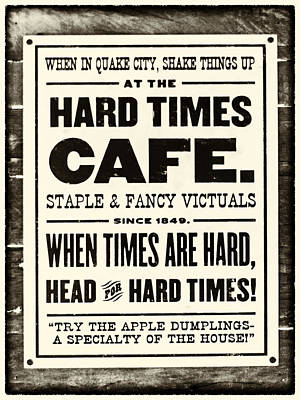 Photograph - Hard Times Cafe by Nicholas Evans