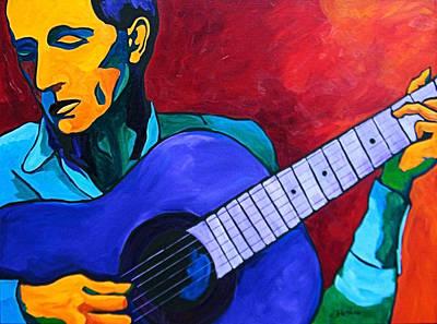 Painting - Hard Travelin' Man by Dennis Jones