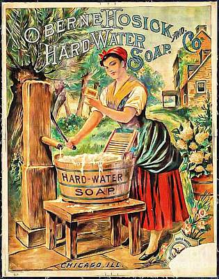 Photograph - Hard Water Soap Ad by Audreen Gieger