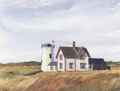 Cape Cod Painting - Harding's Beach Light by Heidi Gallo