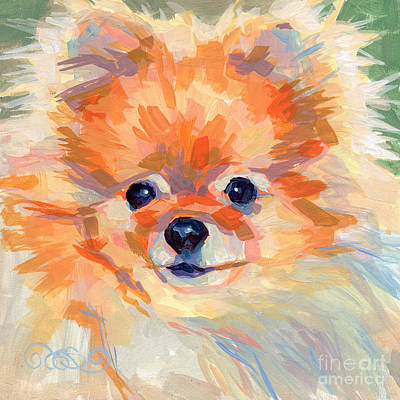 Pomeranian Painting - Hardley A Hadley by Kimberly Santini