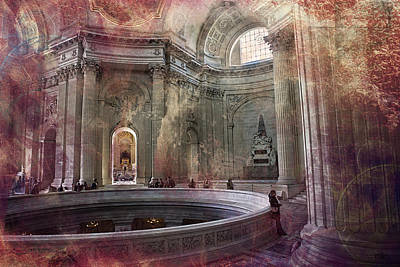Wild And Wacky Portraits Rights Managed Images - Hardouin Mansarts Dome des Invalides Paris Royalty-Free Image by Evie Carrier