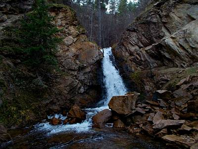 Hardy Falls Peachland Bc Art Print by Guy Hoffman