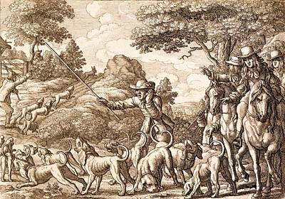 Hare Hunting, Engraved By Wenceslaus Art Print by Francis Barlow