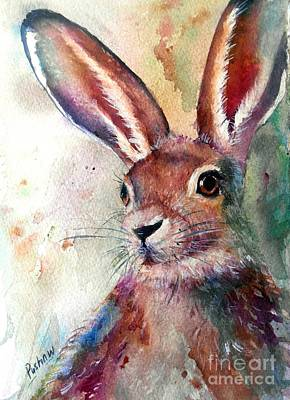 Hare On The Loose Art Print by Patricia Pushaw