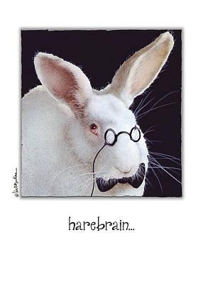 White Rabbit Painting - Harebrain... by Will Bullas