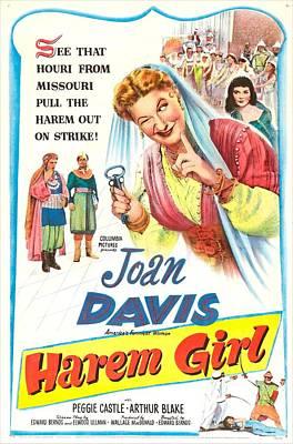 Harem Girl, Us Poster, Joan Davis Art Print