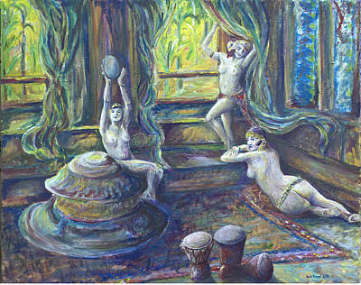 Harem Room Art Print by Nick Vogel