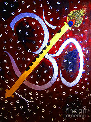 Painting - Hari Om- Whimsical Painting by Priyanka Rastogi