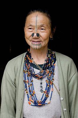 Aging Photograph - Hari Village, Arunachal Pradesh by Ellen Clark