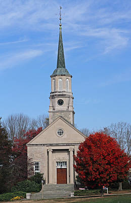 Travel Pics Royalty-Free and Rights-Managed Images - Harkness Chapel at Connecticut College by Juergen Roth