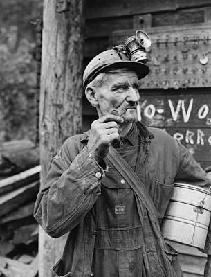 Old Miner Photograph - Harlan County Kentucky Coal Miner 1946 by Mountain Dreams