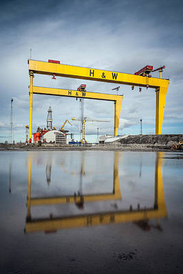 Ireland Photograph - Harland And Wolff Shipyard  by George Pennock