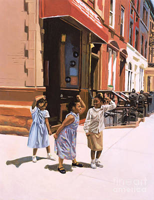 African Child Painting - Harlem Jig by Colin Bootman