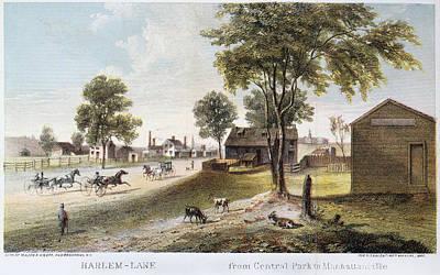 Painting - Harlem Lane, New York City by Granger