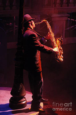 Sax In The City 1 Art Print by Bob Christopher