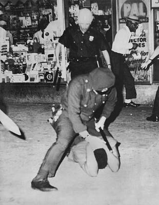 New York City Police Photograph - Harlem Race Riots by Underwood Archives