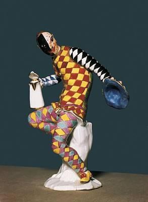 Ceramics Photograph - Harlequin 18th C.. Rococo. China by Everett