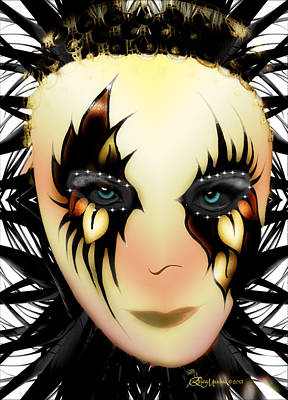 Digital Art - Harlequin Face Mask by Ericamaxine Price
