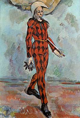 Cambridge Painting - Harlequin by Paul Cezanne