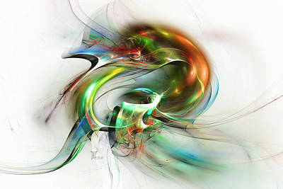Green Surreal Geometry Digital Art - Harlequin by Peter Chasse