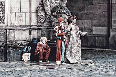 Manipulation Photograph - Harlequins by Jutta Maria Pusl