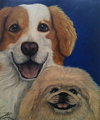 Painting - Harley And Munchie by Ana Marusich-Zanor