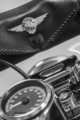 Photograph - Harley Bag And Speedometer  by John McGraw