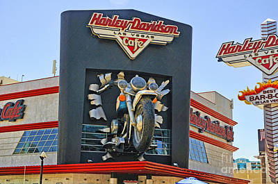 Photograph - Harley Cafe by Brenda Kean