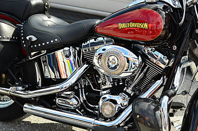 Photograph - Harley Chrome by Laura Fasulo