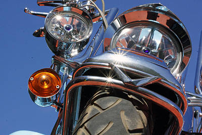 Art Print featuring the photograph Harley Close Up by Shoal Hollingsworth