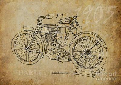 Harley Davidson Art Painting - Harley Davidson 1905 by Pablo Franchi