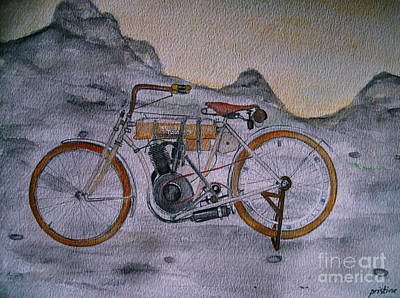 Painting - Harley Davidson 1907 Bike by Pristine Cartera Turkus